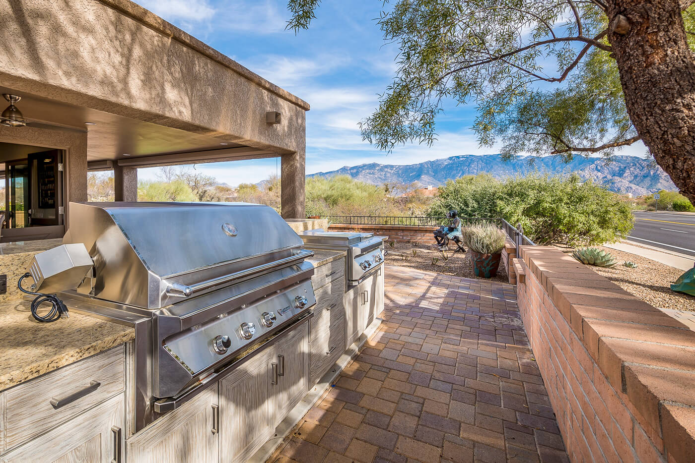 Outdoor Kitchen Desert Oasis In Tucson Featuring